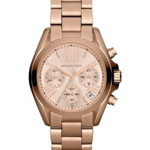 MK AUTHENTIC Bradshaw Rose Gold-Tone Watch